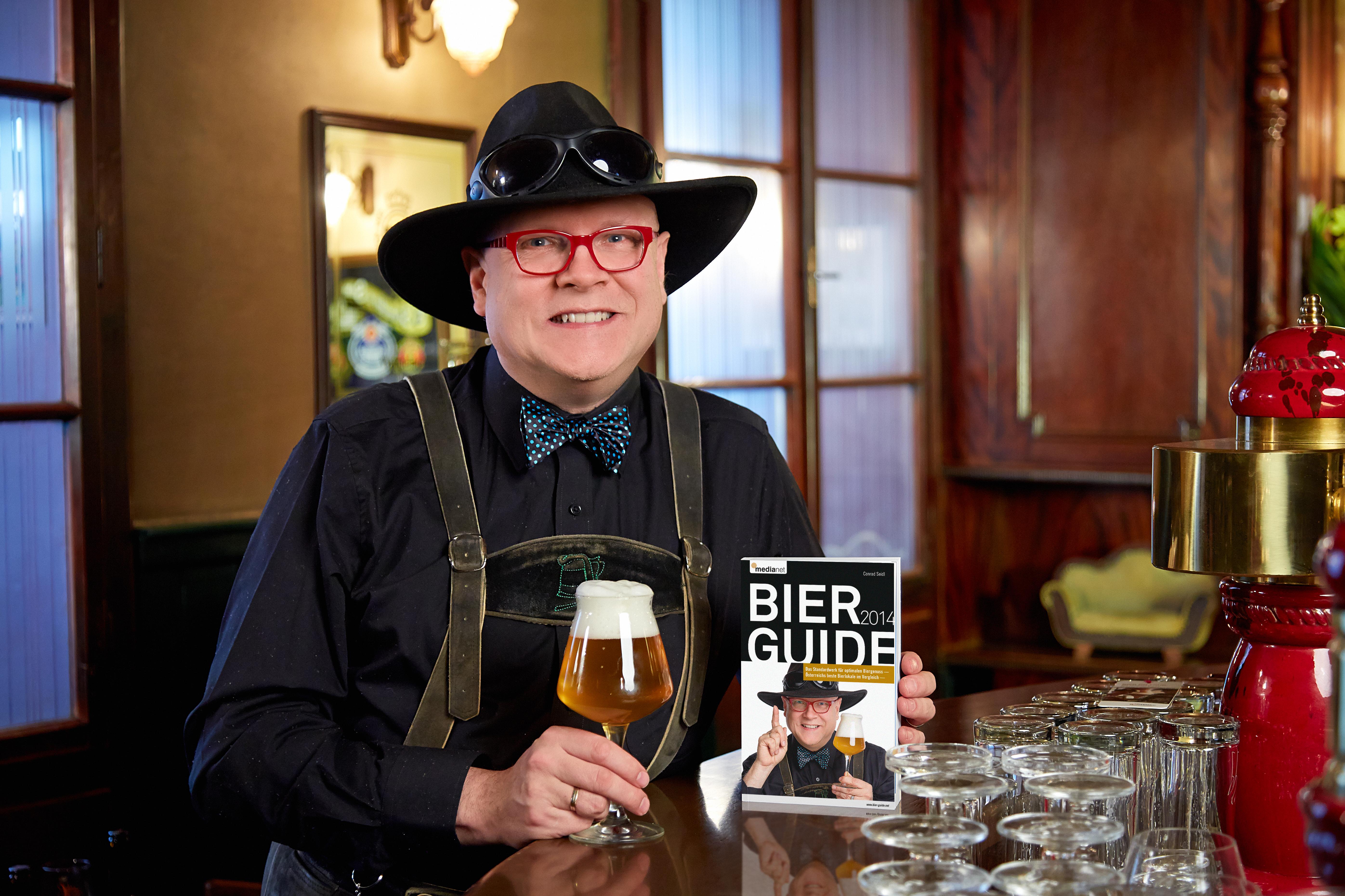 2014 - Bierguide - Bierpapst Conrad Seidl - Pressefoto Günther Menzl - Foto honorarfrei bei Nennung des Fotografen